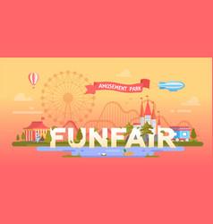 funfair - modern banner vector image vector image