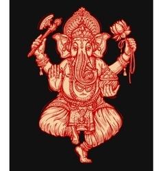 Happy Ganesh Chaturthi of vector image