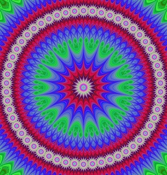 Happy star mandala fractal design background vector