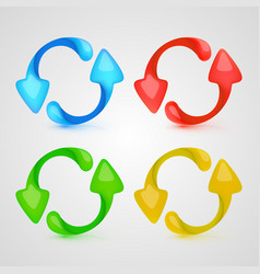 icon refresh color set vector image