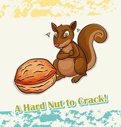 Idiom hard nut to crack vector