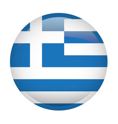 Isolated flag of greece vector