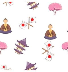 Japan pattern cartoon style vector image vector image
