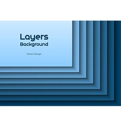 layers blue text vector image