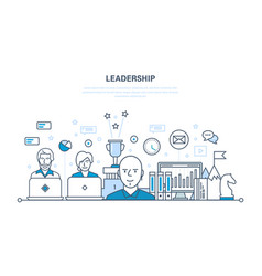 leadership development management career growth vector image