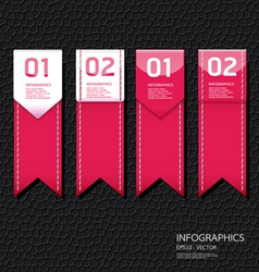 Leather pink color Design template vector image vector image