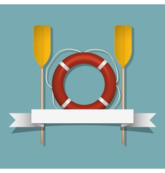 Lifebuoy and paddles vector
