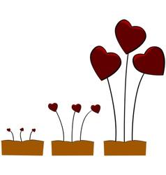 Love growing vector