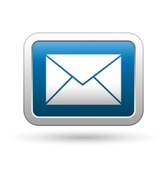 mail icon blue vector image vector image