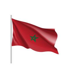 marocco realistic flag vector image