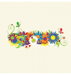 minus sign floral design vector image