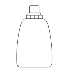 monochrome silhouette of liquid soap bottle vector image