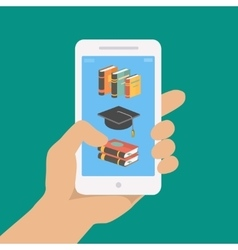 online education concept in flat style vector image vector image