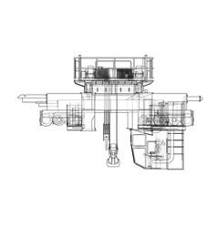 overhead crane sketch vector image