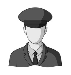 postmanmail and postman single icon in monochrome vector image