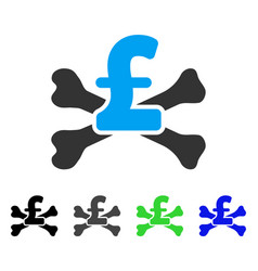 Pound mortal debt flat icon vector