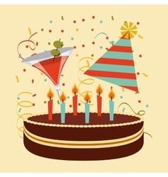 Retro party celebration vector
