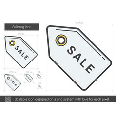 Sale tag line icon vector