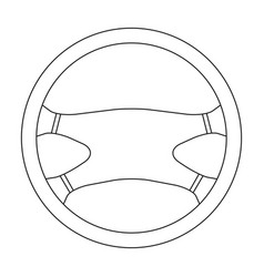Steering wheelcar single icon in outline style vector