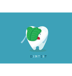 Swill tooth vector image vector image