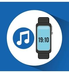 Wearable technology music design vector