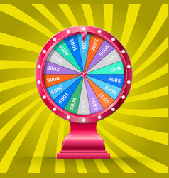 Wheel of fortune isolated vector