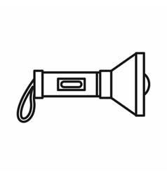 Flashlight icon in outline style vector