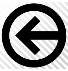Direction left icon vector