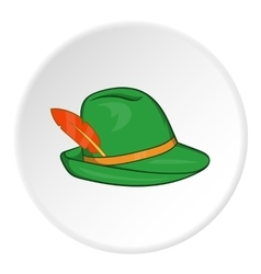 Irish hat icon cartoon style vector image