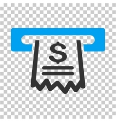 Paper receipt machine icon vector