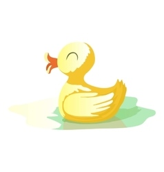 Yellow duck icon cartoon style vector image