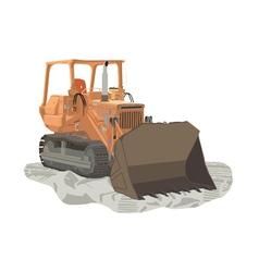 Tractor vector image