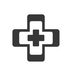 Cross medical health symbol vector
