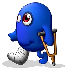 An injured blue monster vector