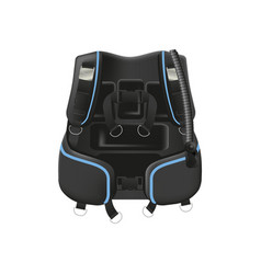 Scuba diving gear buoyancy compensator vector
