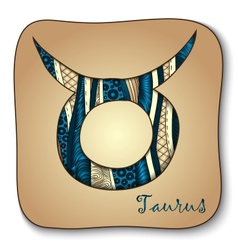 Zodiac sign - taurus doodle hand-drawn style vector