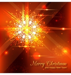 Shining christmas background with crystal vector