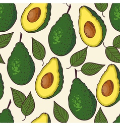 Avocado seamless pattern vector