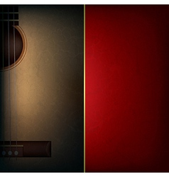 Abstract grunge red music background with acoustic vector
