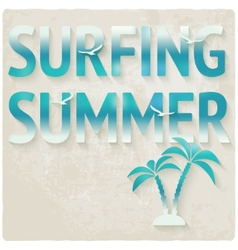 Surfing beach summer background vector