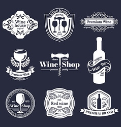 Simple vintage design elements vector