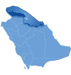 Map of saudi arabia the region northern borders vector