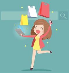 ShoppingOnline vector image