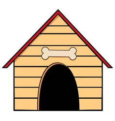 Dog house vector