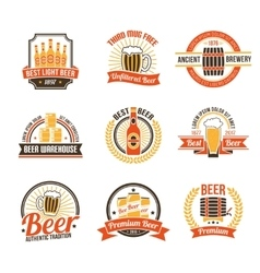 Brewery Logo Set vector image