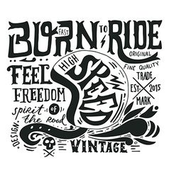 Hand drawn grunge vintage with hand lettering and vector