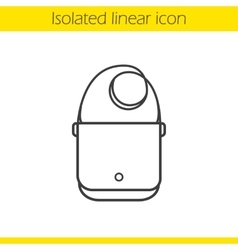 Shoulder bag icon vector