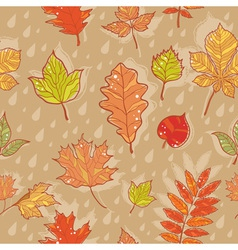 Autumn leaves colorful seamless pattern vector image vector image