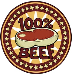 Badge 100 beef vector