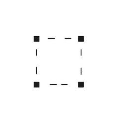 Black resize icon vector
